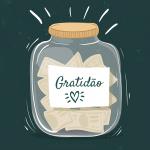 Pote para exercício de gratidão